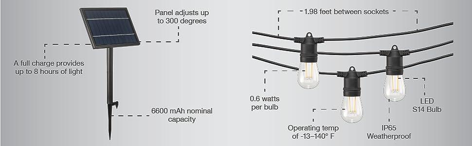 mr beams solar power led string lights, solar power outdoor string lights, outdoor led string light