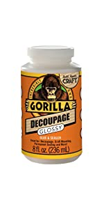 gorilla glossy decoupage glue and sealer