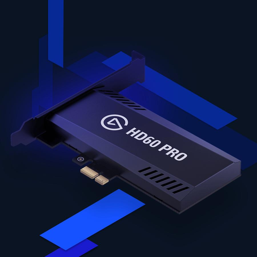 Elgato Game Capture HD60 Pro, stream and record in 1080p60, superior low  latency technology, H 264 hardware encoding, PCIe