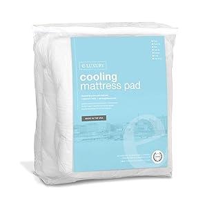 cooling mattress pad amazon Amazon.com: eLuxurySupply Cooling Mattress Pad with Fitted Skirt  cooling mattress pad amazon