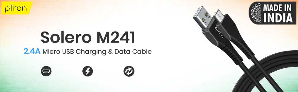 Solero M241 2.4A Micro USB cable