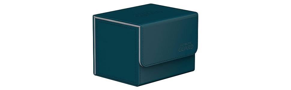 Ultimate Guard SideWinder ChromiaSkin™ Deck Case 100 PETROL BLUE Standard Size