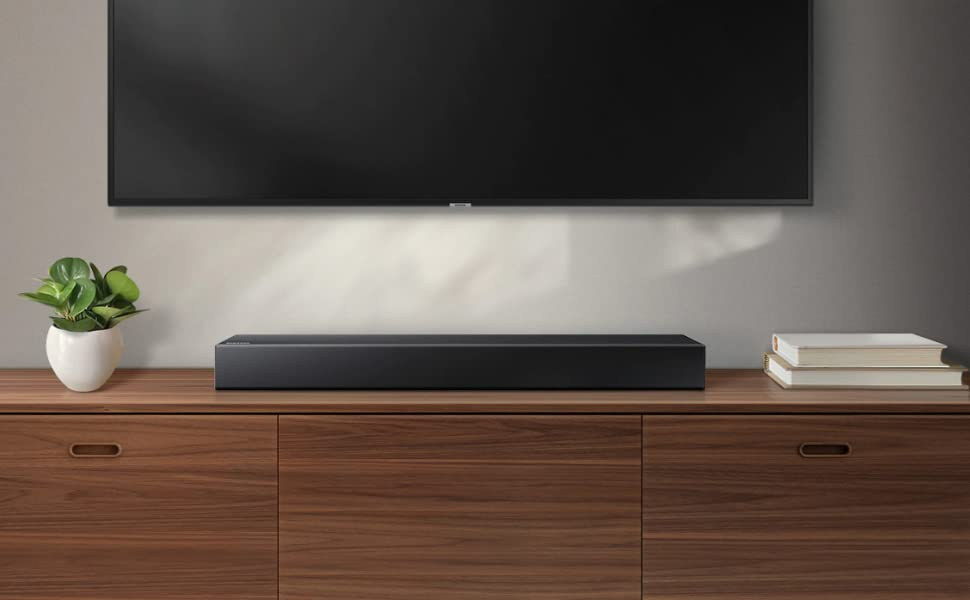 Samsung HW N300 2 Channel TV Mate Soundbar Bluetooth Wireless Built In USB Port Surround Sound Expansion Booming Bass With A Built In Woofer