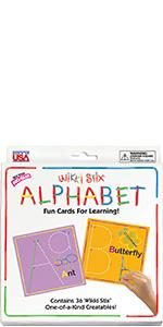 wikki stix, alphabet cards, learning toys, educational toys