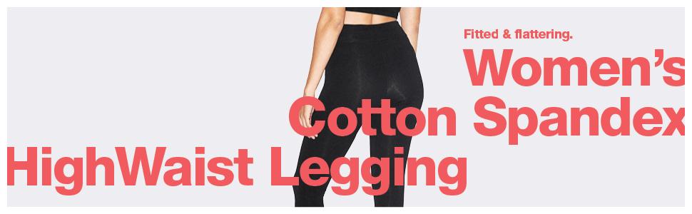 american apparel, women's, cotton spandex, highwaist legging