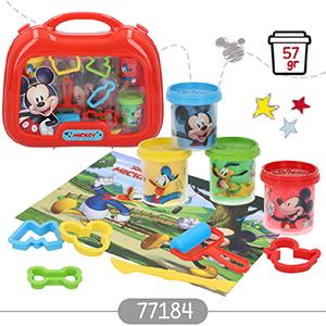 Disney Kit maletín plastilina Mickey con 4 botes de 57 g accesorios y tapete (Colorbaby 77184): Amazon.es: Juguetes y juegos