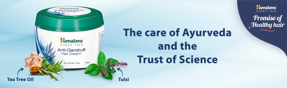 Tea tree oil; tulsi; hair cream