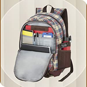 The Vertical Kruger Polyester 24 Ltrs Navy School Backpack