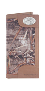 Realtree nylon and leather roper wallet