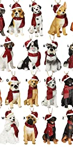 Design Toscano Holiday Dog Ornaments Complete Set of 25