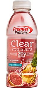 Premier Protein Clear Protein Drink, 20g Protein, 0g Sugar