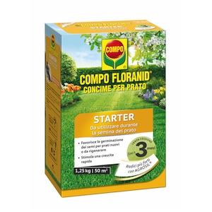 compo concime floranid starter prato giardino casa erba