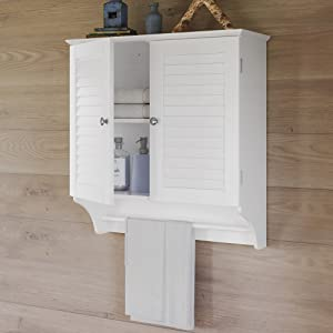 2 door wall cabinet in white
