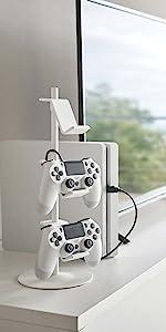 山崎実業 ゲーム コントローラー 収納ラック スマート ホワイト 5088