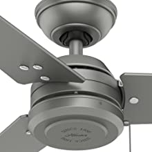 Amazon.com: Hunter Indoor/Outdoor Ceiling Fan, with Pull