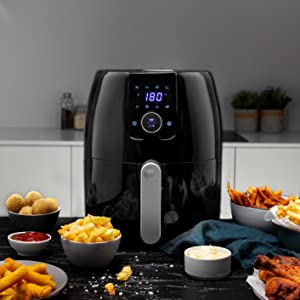 friggitrice 4 l litri 4,5 Princess larga grande friggere senza olio professionale led touch