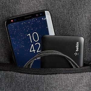Belkin Pocket Power Bank - Batería Externa, Cargador portátil (5000 mAh, Carga rápida, certificación de Seguridad, para iPhone 11, 11 Pro/Pro Max, XS, ...