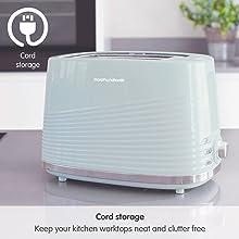 Cord Storage green dune toaster