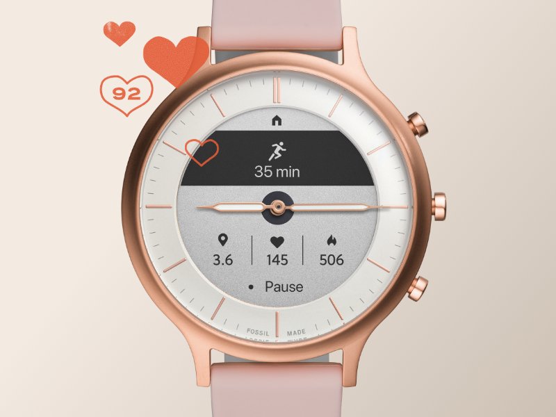 Fossil hybrid heart rate tracking