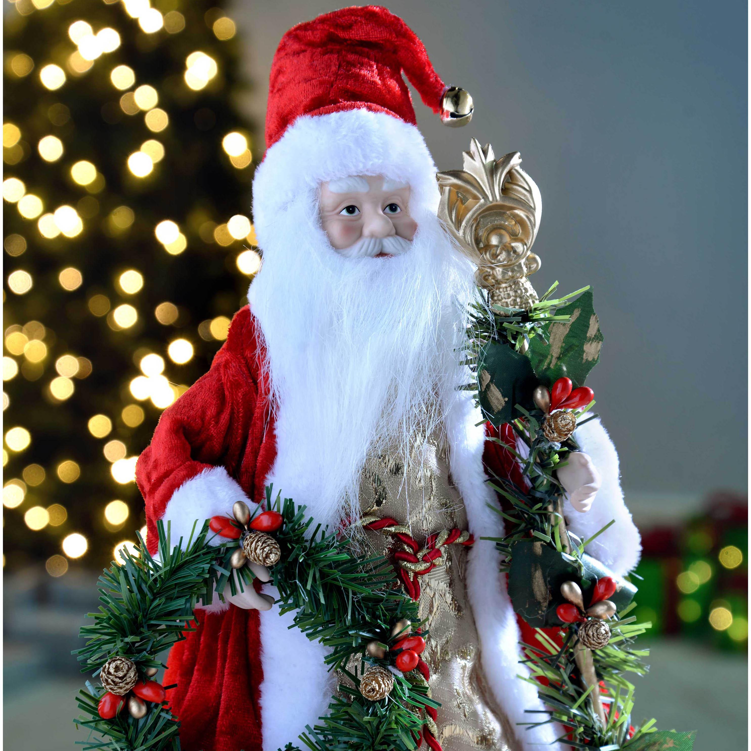 WeRChristmas Red & Gold Santa Decoration Christmas Tree