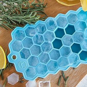 ice cube tray; silicone ice cube tray; hexagon ice cube tray; small hex tray; small ice tray