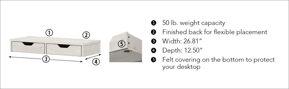 desk drawer,desk organizer,monitor stand,desktop drawers,drawer organizer,mail organizer