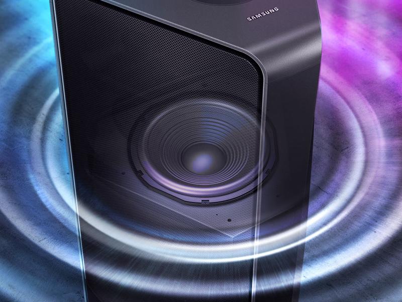 Samsung GIGA Party Soundbar built-in woofer