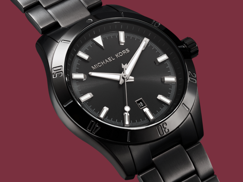 Black Michael Kors watch for men