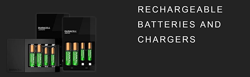 Duracell Rechargeable Batteries and Chargers, AA, AAA, batteries