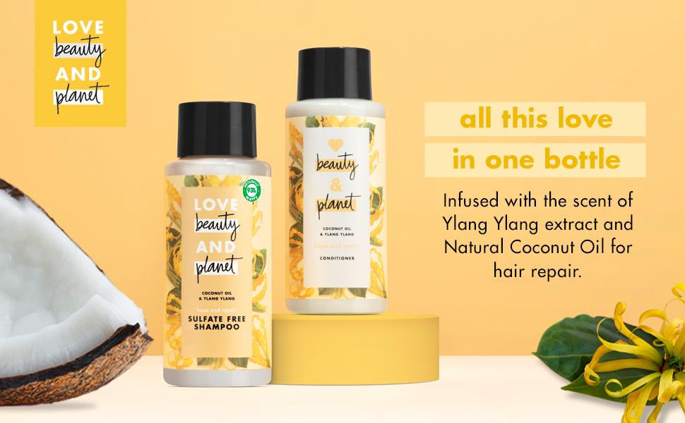ylang ylang, natural coconut oil, hair repair