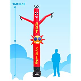 New Inflatable Air Dancing 15ft blower not included Rainbow Colored Joker