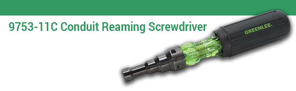 Screwdriver Reaming Conduit Reamer ID OD Ream Electrical Electrician Tool
