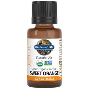 garden of life, essential oils, sweet orange, usda organic, non gmo,