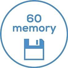 2 x 60 posiciones de memoria