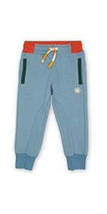 Pantalones de chándal para niños pequeños, cómodos, color azul claro y naranja, para verano, primavera, adecuados para guardería