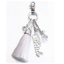 Silver Bride Key Fob Chain
