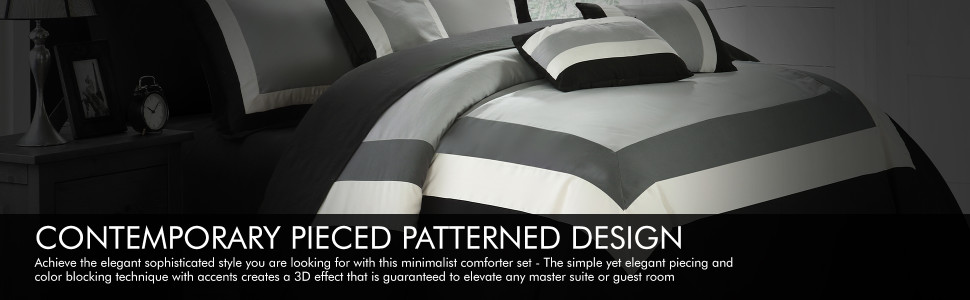 Chic Home Contemporary Pieced Patterned Design