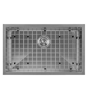 WHNPL2918, Gunmetal, Sink, Kitchen, Noah Plus, Undermount, Drop in, Grid, Drain, Stainless Steel