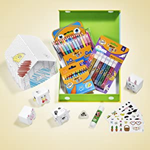 BIC Kids Colouring Pencils Crayons Felt Markers Art and Craft School Gift Holiday Birthday Present