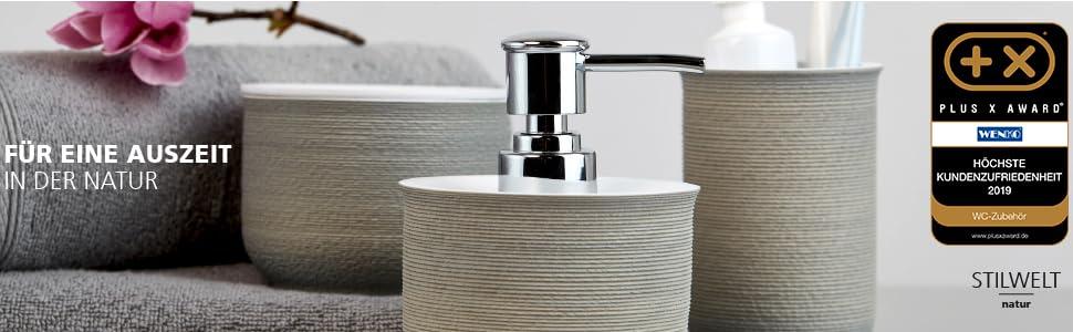 Authentieke zeepdispenser & -schalen tandenborstelbeker, cosmetische blikjes, haken, planken & wc-sets