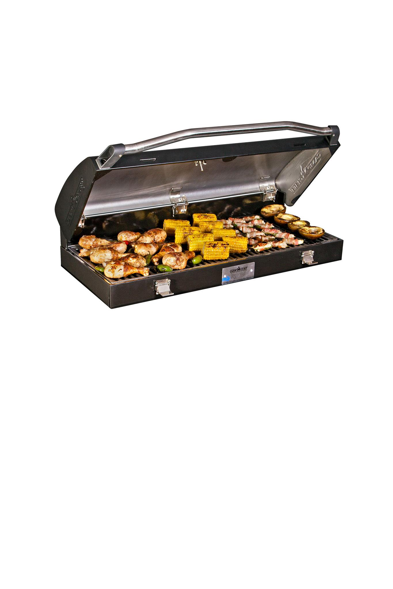 Camp Chef Deluxe Barbecue Box Hinged Lid For 2 Burners