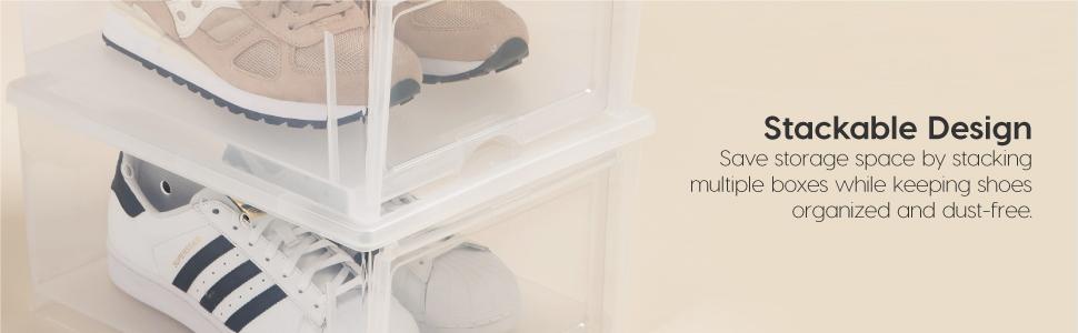 shoe container with lid,clear plastic shoe boxes,men's drop-front shoe box,clear sneaker box storage