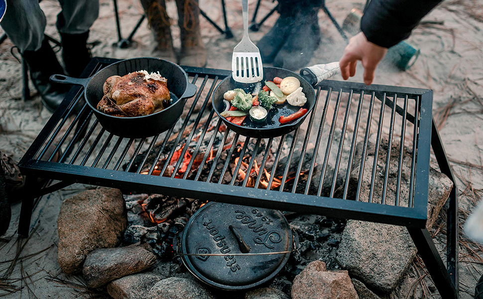 stansport camp fire grill heavy duty