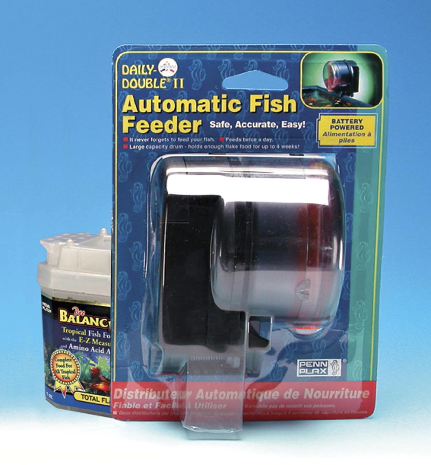 Penn plax daily double ii battery operated for Auto fish feeder