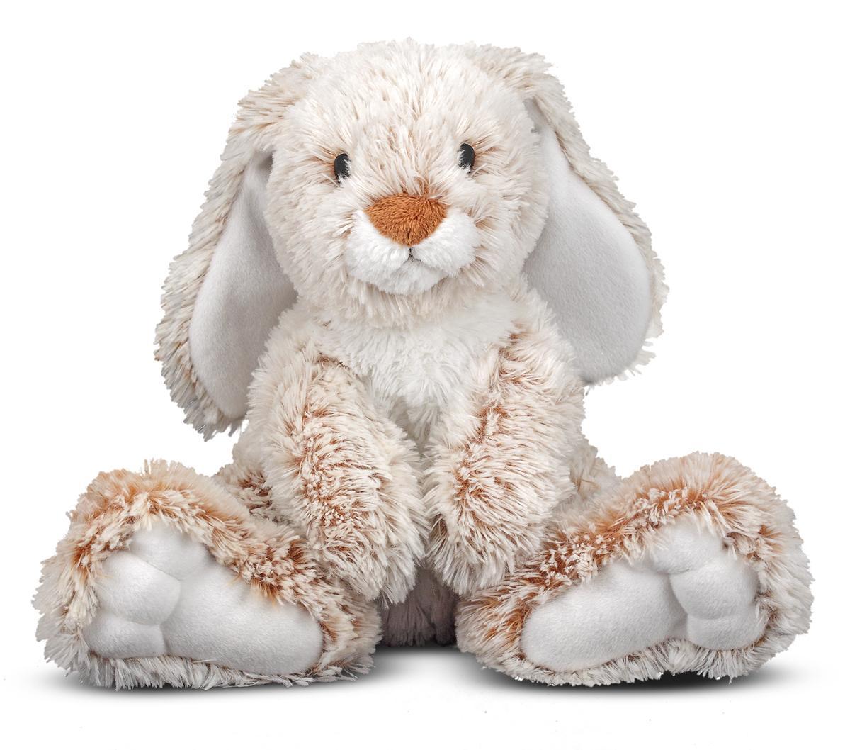 melissa doug burrow bunny rabbit stuffed animal washable surface soft fabric 9. Black Bedroom Furniture Sets. Home Design Ideas