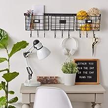 hanging storage with hooks wall storage desk organizer
