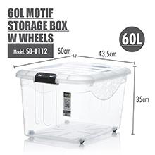 Stackable design; HOUZE - 60L Motif Storage Box