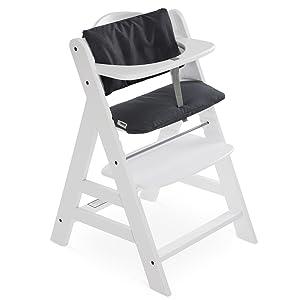 Asiento acolchado // Reductor de asiento // Almohadilla para silla alta Coj/ín Deluxe para Trona Alpha Hauck 2 piezas Beige