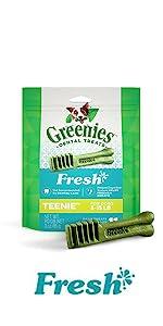 Dog Tongue Cleaner, Tratas de Perro, Perros, Golosinas para Perros, Mint Dog Bites
