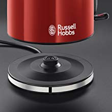 Russell Hobbs Colours Plus - Hervidor de Agua Eléctrico (2400 W, 1,7l, Acero Inoxidable, Rojo) - ref. 20412-70